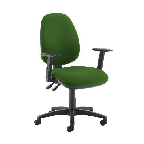Jota high back operator chair with adjustable arms - Lombok Green - Furniture