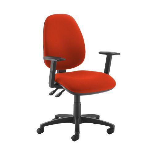 Jota high back operator chair with adjustable arms - Tortuga Orange - Furniture