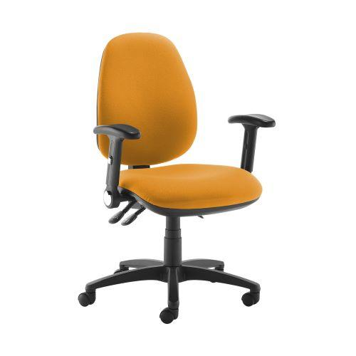 Jota high back operator chair with folding arms - Solano Yellow - Furniture