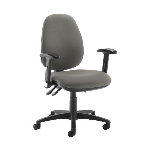 Jota high back operator chair with folding arms - Slip Grey - Furniture