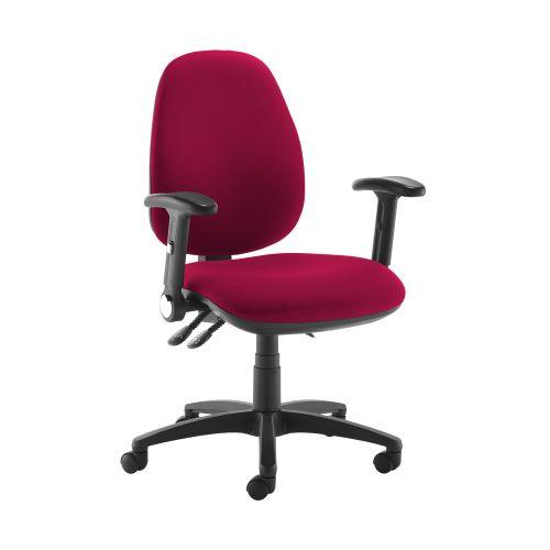 Jota high back operator chair with folding arms - Diablo Pink - Furniture