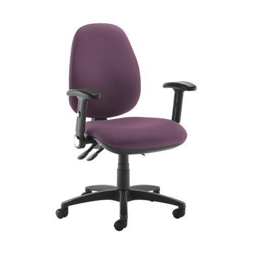 Jota high back operator chair with folding arms - Bridgetown Purple - Furniture