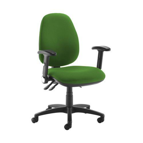 Jota high back operator chair with folding arms - Lombok Green - Furniture
