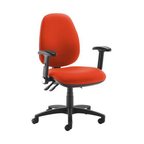 Jota high back operator chair with folding arms - Tortuga Orange - Furniture