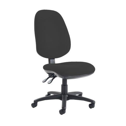 Jota extra high back operator chair with no arms - Havana Black - Furniture