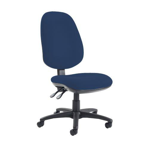 Jota extra high back operator chair with no arms - Costa Blue - Furniture