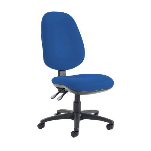 Jota extra high back operator chair with no arms - Scuba Blue - Furniture