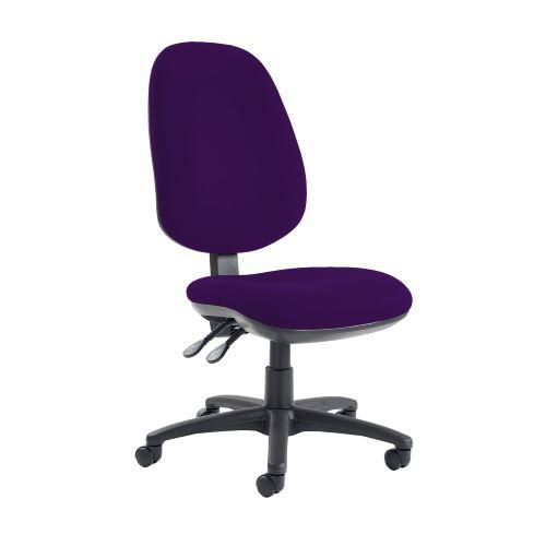 Jota extra high back operator chair with no arms - Tarot Purple - Furniture