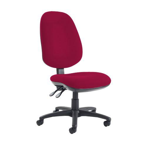 Jota extra high back operator chair with no arms - Diablo Pink - Furniture