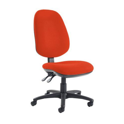 Jota extra high back operator chair with no arms - Tortuga Orange - Furniture