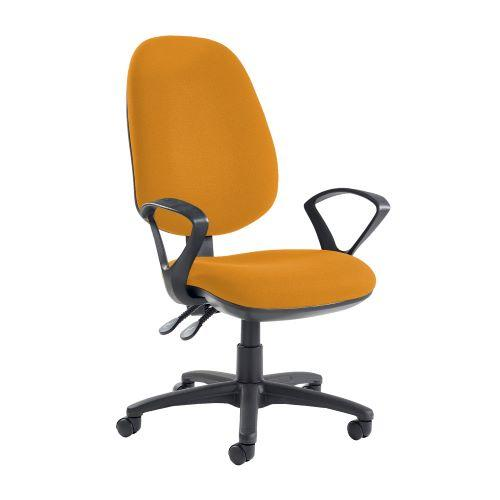 Jota extra high back operator chair with fixed arms - Solano Yellow - Furniture