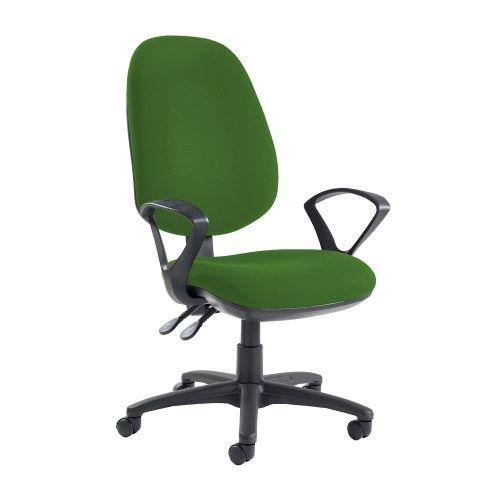 Jota extra high back operator chair with fixed arms - Lombok Green - Furniture