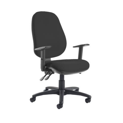 Jota extra high back operator chair with adjustable arms - Havana Black - Furniture