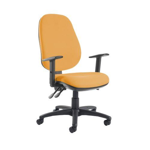 Jota extra high back operator chair with adjustable arms - Solano Yellow - Furniture