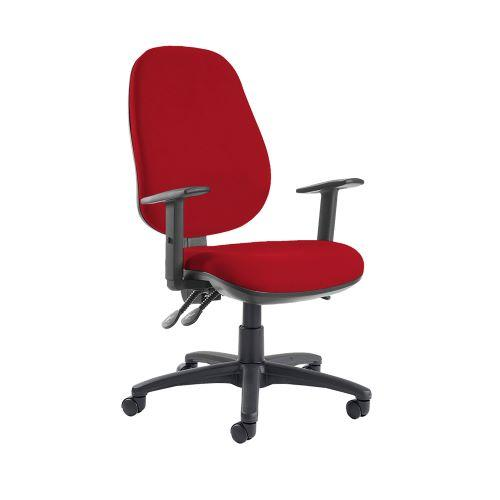 Jota extra high back operator chair with adjustable arms - Panama Red - Furniture