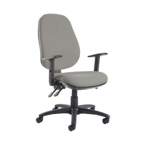 Jota extra high back operator chair with adjustable arms - Slip Grey - Furniture