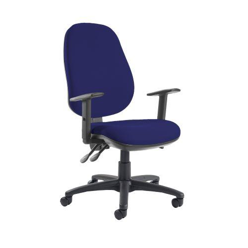 Jota extra high back operator chair with adjustable arms - Ocean Blue - Furniture