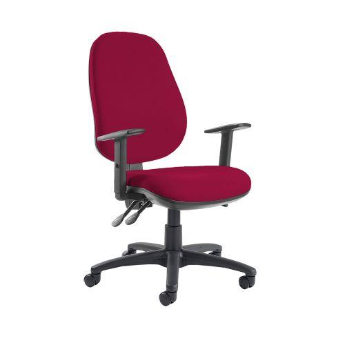 Jota extra high back operator chair with adjustable arms - Diablo Pink - Furniture