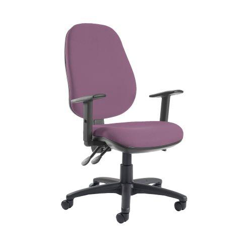 Jota extra high back operator chair with adjustable arms - Bridgetown Purple - Furniture