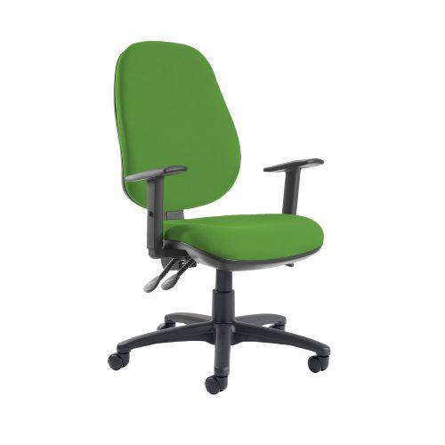 Jota extra high back operator chair with adjustable arms - Lombok Green - Furniture