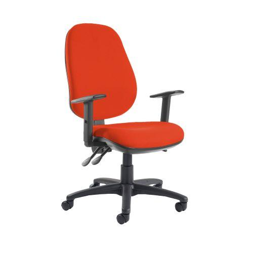 Jota extra high back operator chair with adjustable arms - Tortuga Orange - Furniture