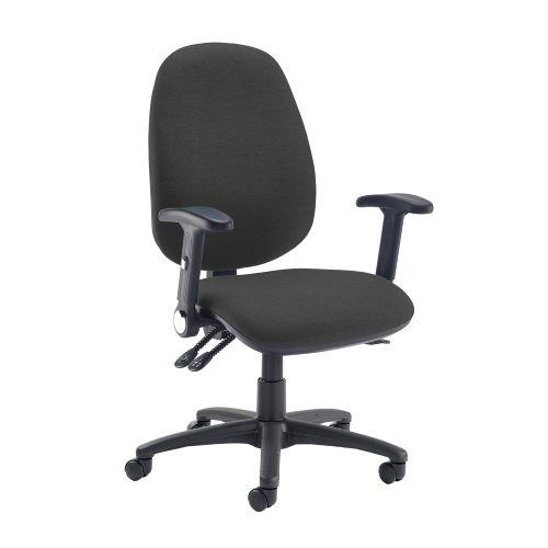 Jota extra high back operator chair with folding arms - Havana Black - Furniture