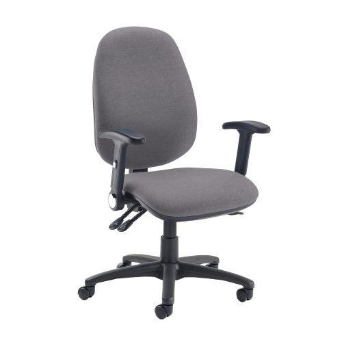 Jota extra high back operator chair with folding arms - Blizzard Grey - Furniture