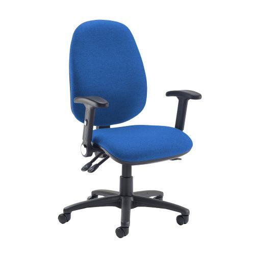 Jota extra high back operator chair with folding arms - Scuba Blue - Furniture