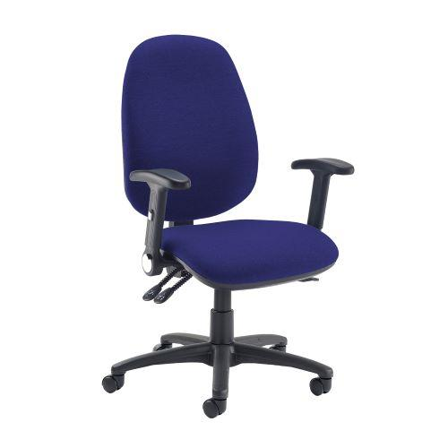 Jota extra high back operator chair with folding arms - Ocean Blue - Furniture
