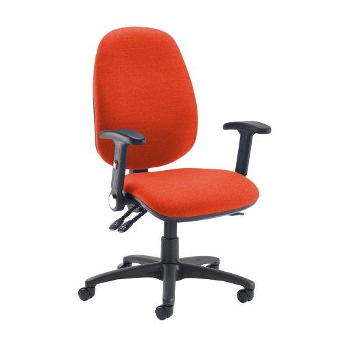 Jota extra high back operator chair with folding arms - Tortuga Orange - Furniture