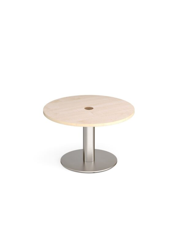Monza circular coffee table 800mm with central circular cutout 80mm - maple - Furniture