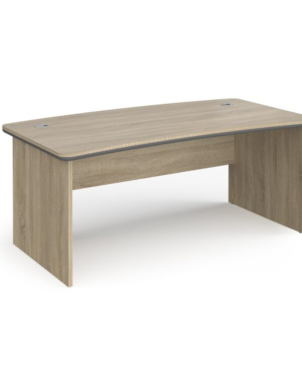 Magnum executive desk 1800mm x 900mm - light oak - Furniture