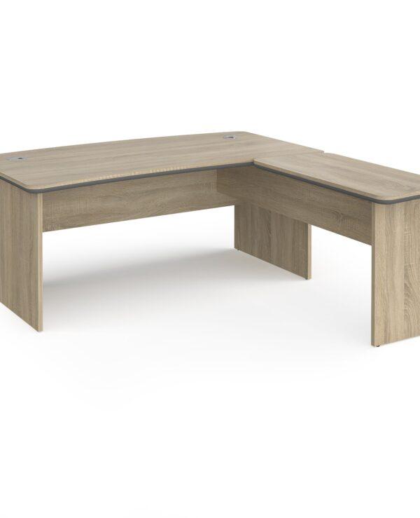 Magnum executive desk 1800mm x 900mm with 800mm return desk - light oak - Furniture