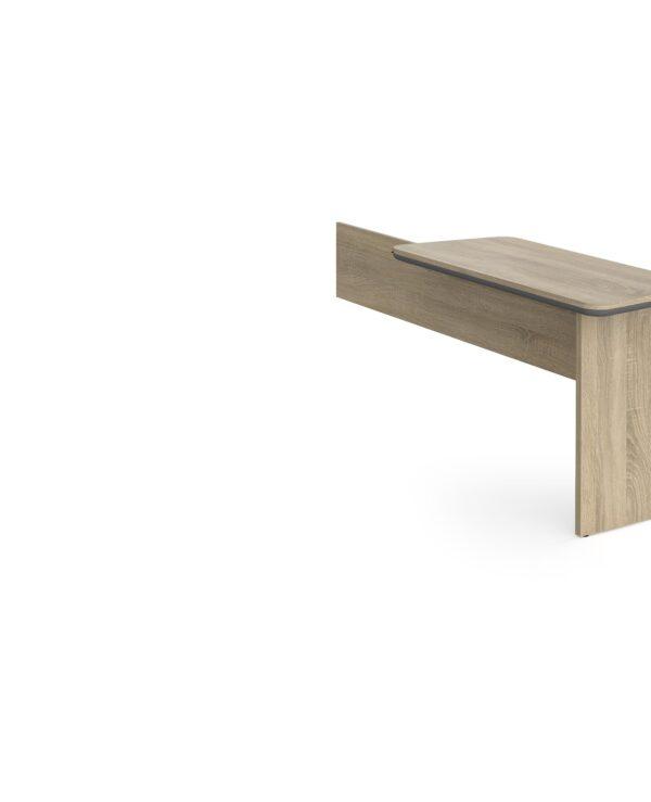 Magnum executive desk return 1120mm x 500mm -  light oak - Furniture
