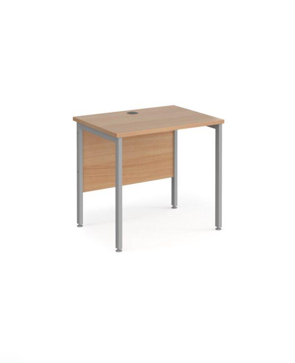 Maestro 25 straight desk 800mm x 600mm - black H-frame leg, beech top - Furniture