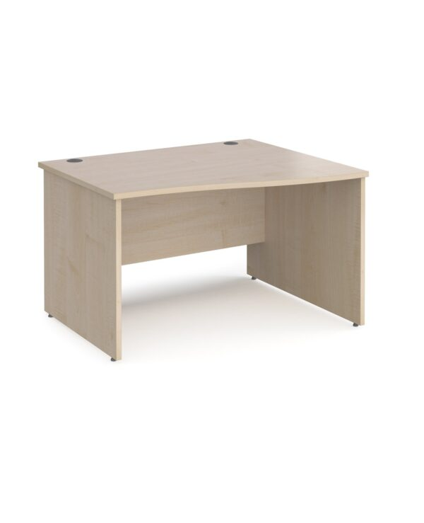 Maestro 25 right hand wave desk 1200mm wide - maple top with panel end leg - Furniture