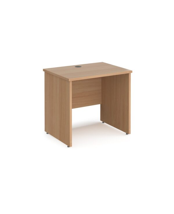 Maestro 25 straight desk 800mm x 600mm - beech top with panel end leg - Furniture