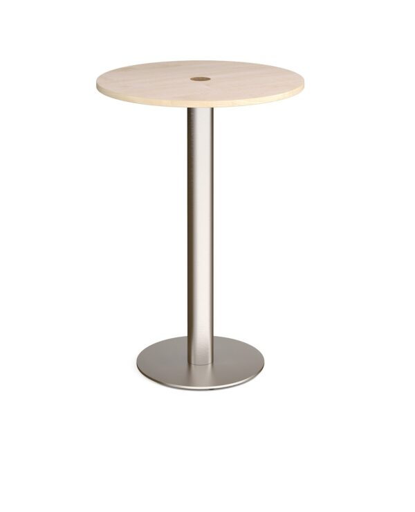 Monza circular poseur table 800mm with central circular cutout 80mm - maple - Furniture