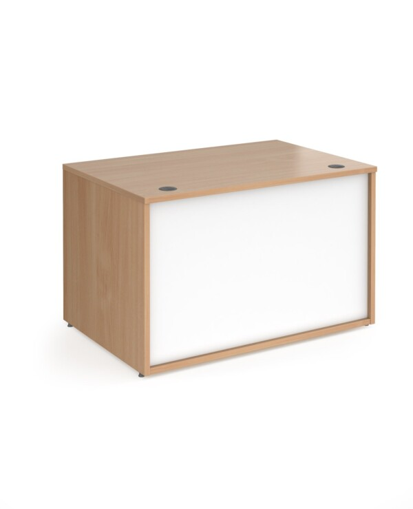 Denver reception straight base unit 1200mm - beech with white panels - Furniture