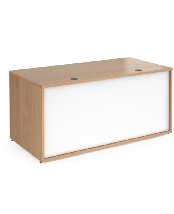 Denver reception straight base unit 1600mm - beech with white panels - Furniture