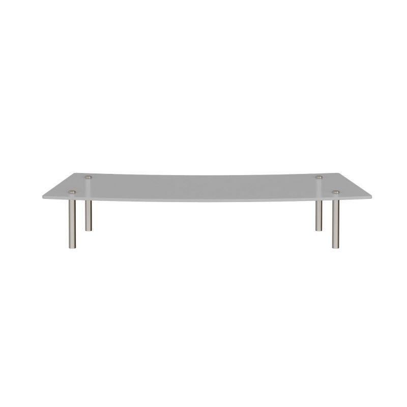 Denver reception glass shelf 800mm curved - Furniture