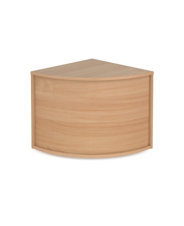Denver reception corner base unit 800mm x 800mm - beech - Furniture