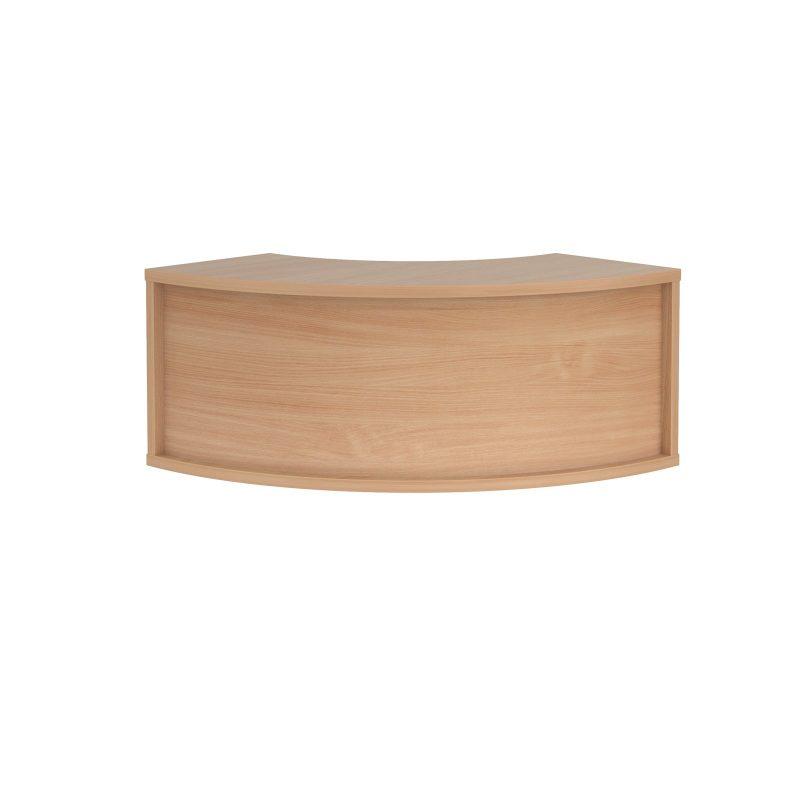 Denver reception corner top unit 800mm x 350mm - beech - Furniture