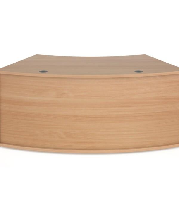 Denver reception 45� curved base unit 1800mm - beech - Furniture