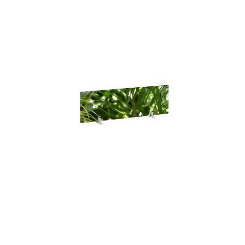 Desktop printed screen topper with brackets 1000mm wide - plant design - Furniture