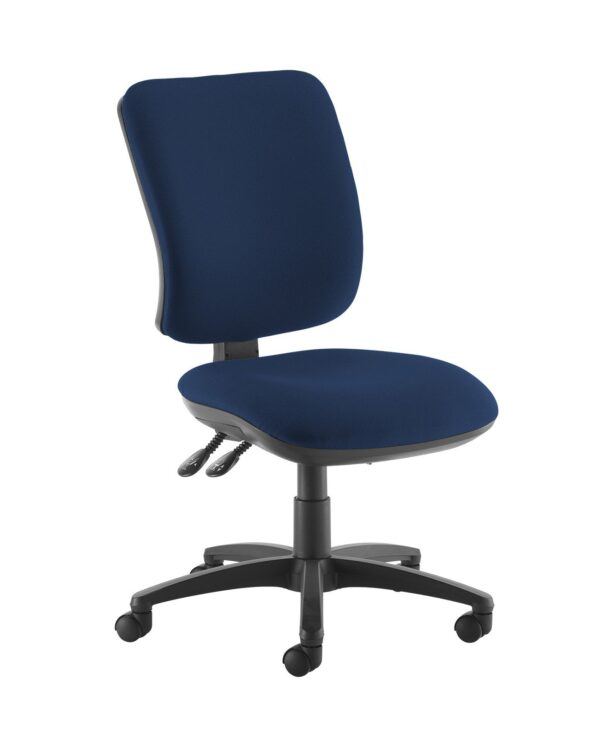 Senza high back operator chair with no arms - Costa Blue - Furniture