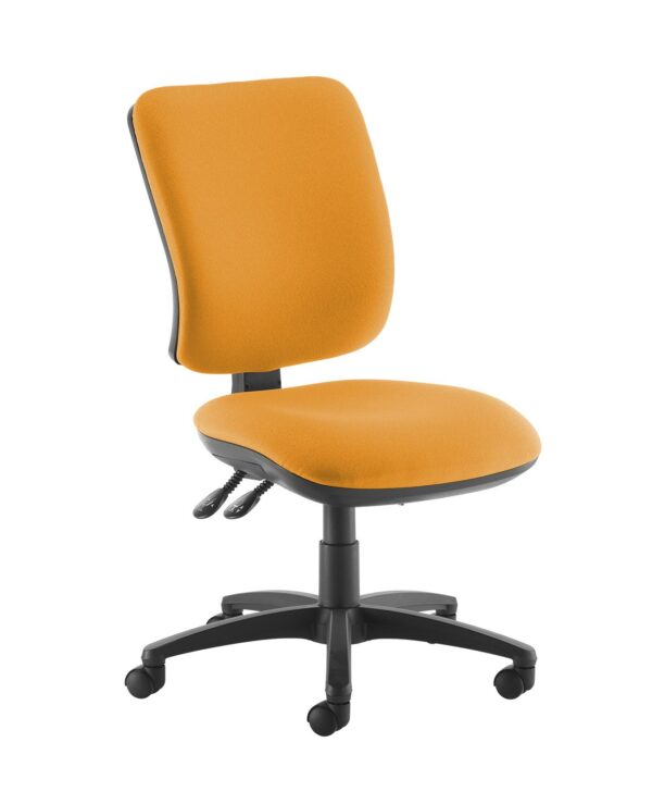 Senza high back operator chair with no arms - Solano Yellow - Furniture