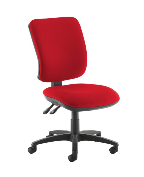 Senza high back operator chair with no arms - Panama Red - Furniture