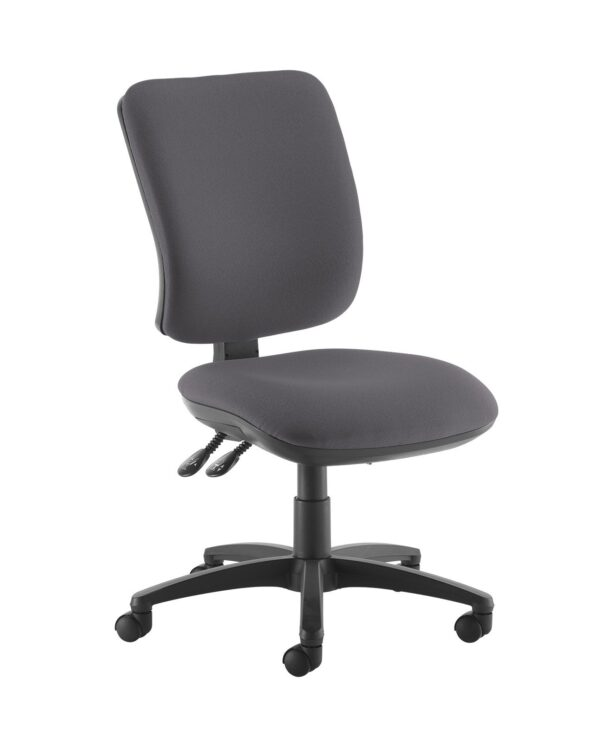 Senza high back operator chair with no arms - Blizzard Grey - Furniture