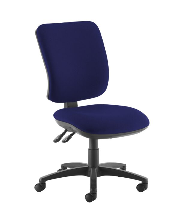 Senza high back operator chair with no arms - Ocean Blue - Furniture